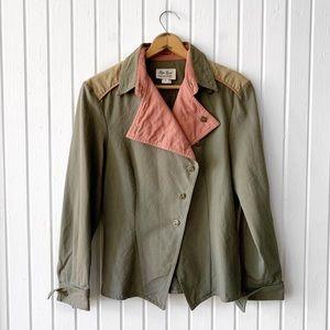 VTG Liza Lynn Western Jean Colorblock Jacket